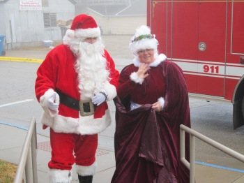 Santa and Mrs. Claus visit the Hazel Green Public Library on Dec. 13th, 2014