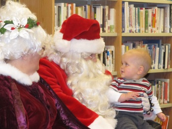Mrs. and Santa Claus with Nolan